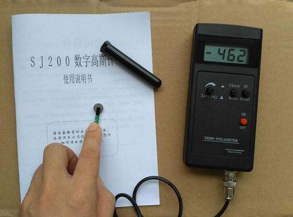 SJ200 Digital Gauss Meter Static Magnetic Field Tesla