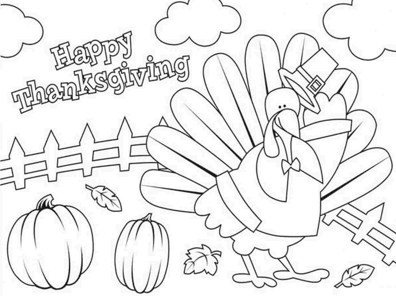 Printable Happy Thanksgiving Coloring Pages Free Download