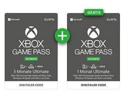 Xbox Game Pass  3 Monate Ultimate + 1 Monat GRATIS | Xbox One/Windows 10 PC - Download Code