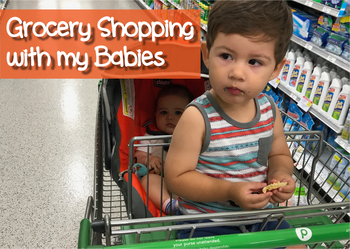 Grocery Shopping with my Babies