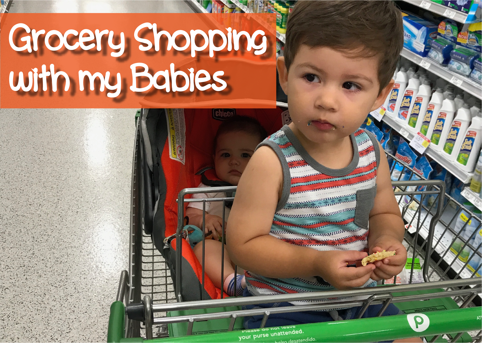 Mom Struggles With Two Under Two – Grocery Shopping