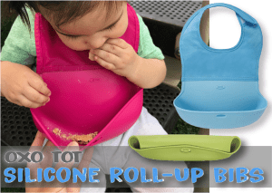 OXO Tot Silicone Roll Up Bibs