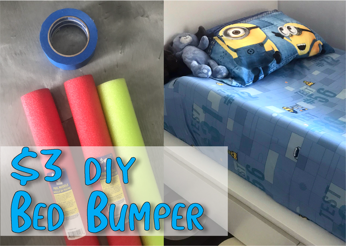 $3 DIY Toddler Bed Bumper