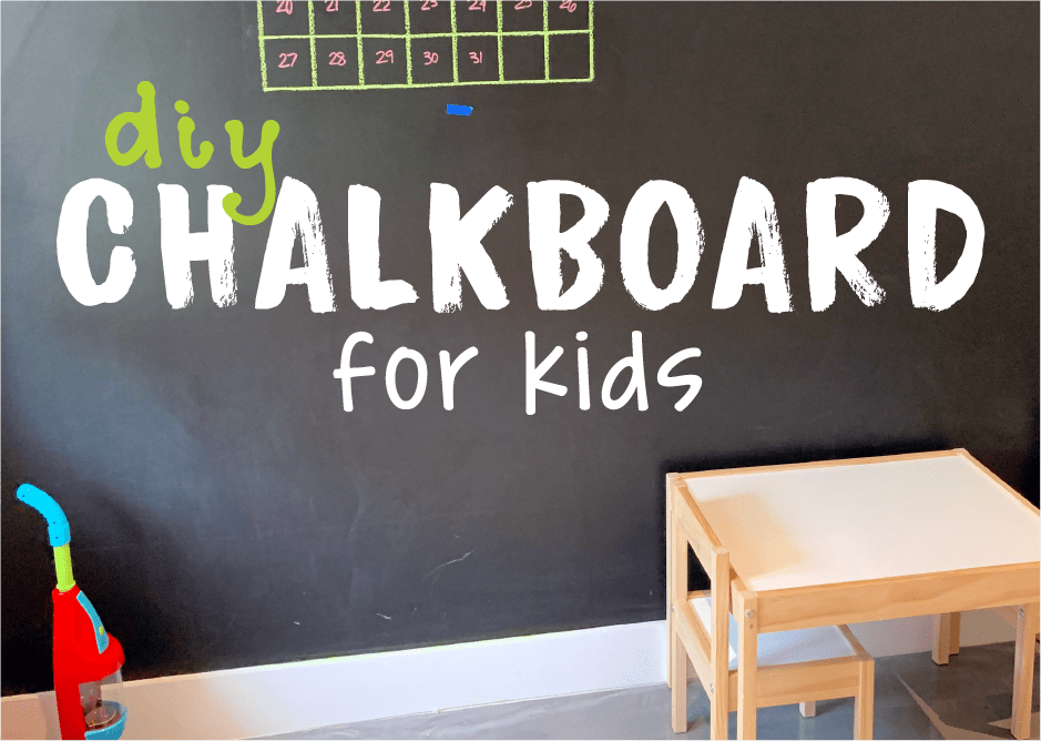 Easy Way To DIY A Quality Chalkboard Your Kids Will Love