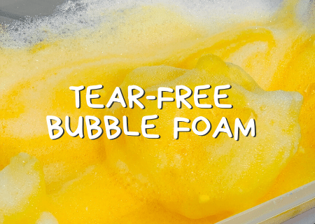 How To Make Tear Free Bubble Foam For Kids