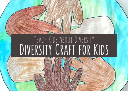 Teach Diversity with Beautiful Diversity Craft For Kids – MLK Day