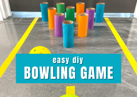 Easy DIY Bowling Game to Improve Motor Skills for Kids