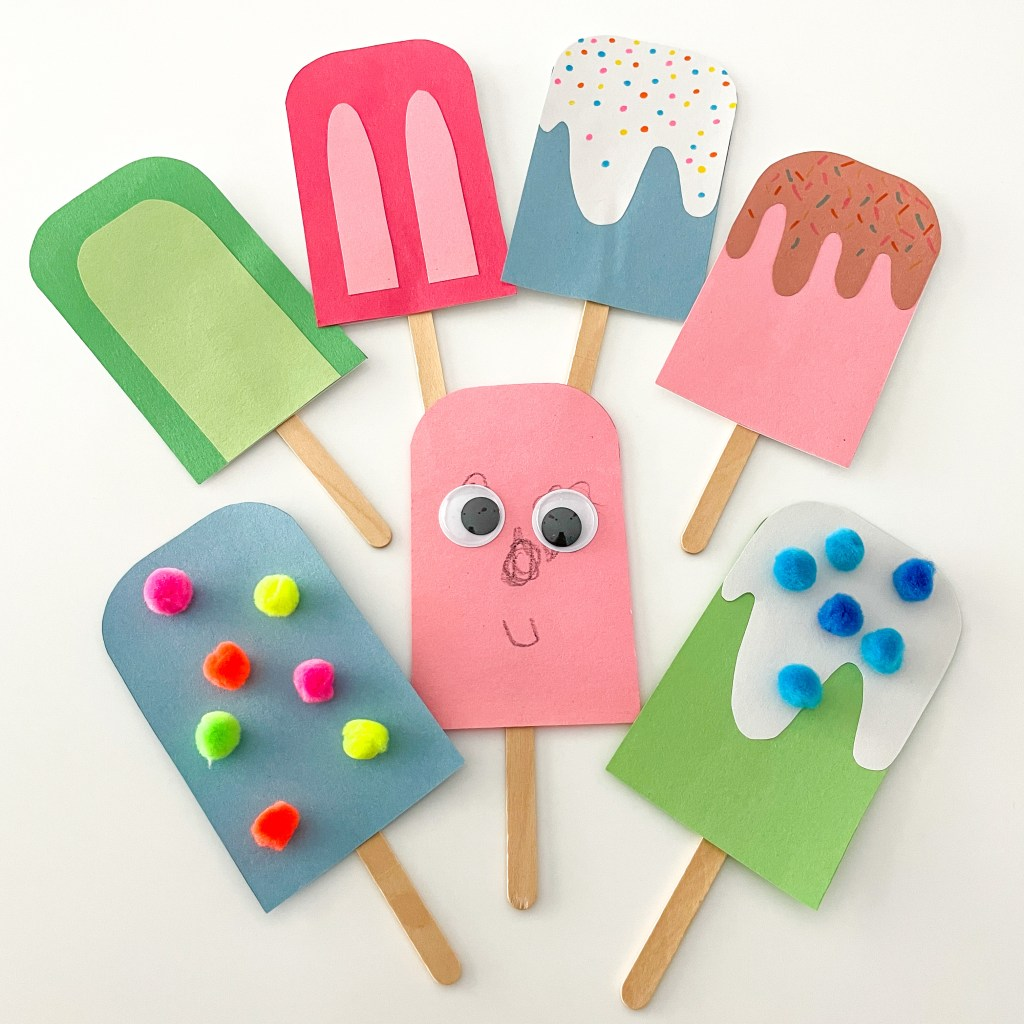 Fun And Unique Paper Popsicle Craft Activity For Kids - How To Guide