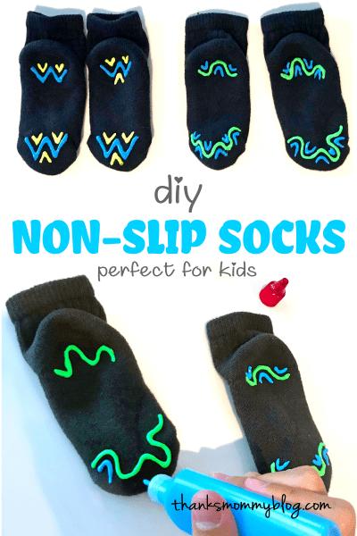 easy DIY Non-Slip Socks for Kids