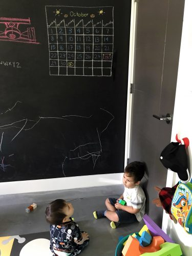Toddler Chalkboard Wall