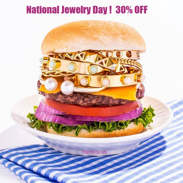 National Jewelry Day - get 30% OFF