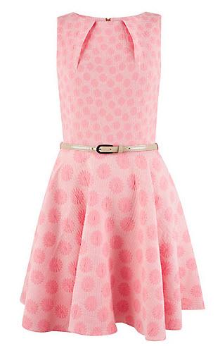 Closet Daisy Belted Skater Dress, Pink