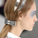 SILVER LININGS The look was sleek and polished at Chanel SS16