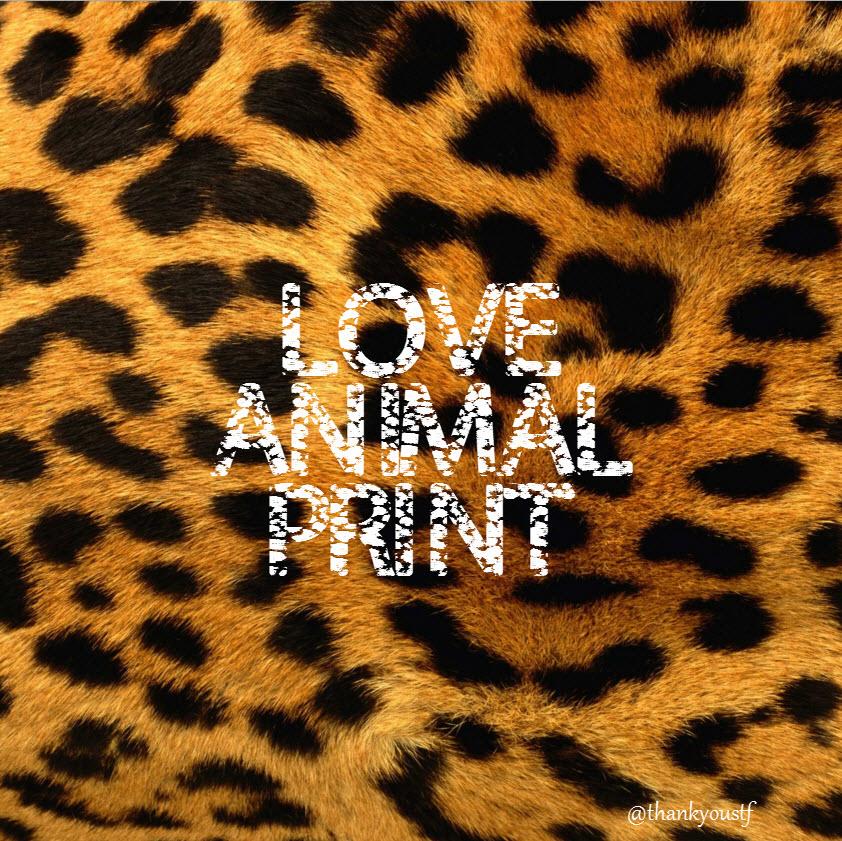 love animal print