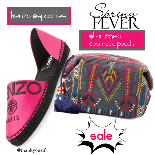Star Mela Sami Cosmetic Pouch and Kenzo Espadrilles