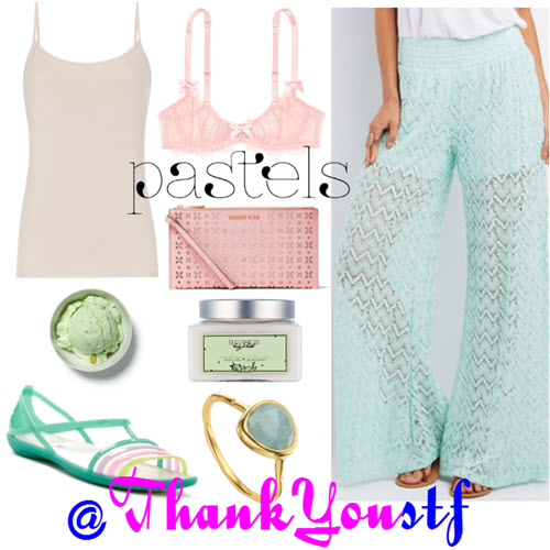 outfit in pink and mint pastels 2016