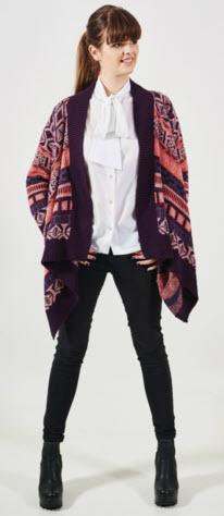 jacheta tricotata cu colturi Carmen Grigoriu