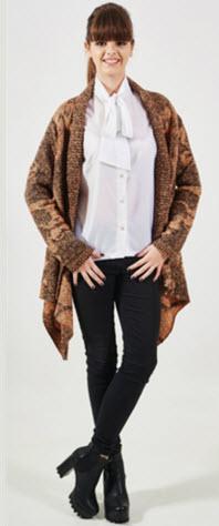 jacheta tricotata cu guler sal Carmen Grigoriu