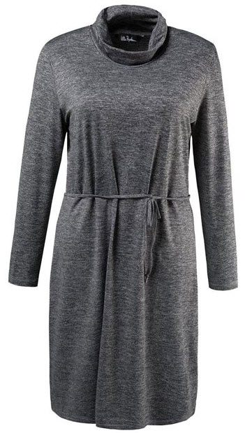 rochie midi gri masura mare cu maneca lunga