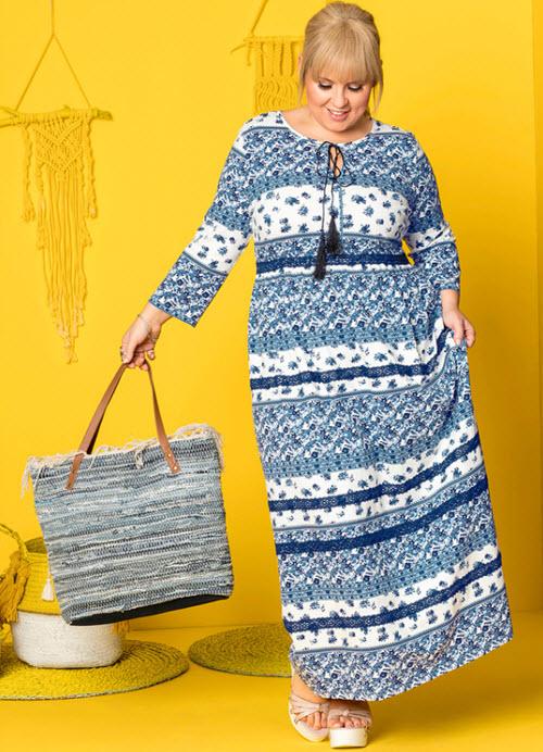 rochii masuri mari cu motiv etnic si dantela