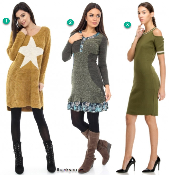 rochii tricotate toamna modele deosebite