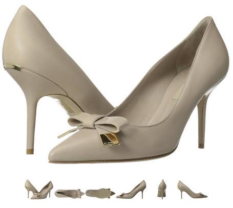 Pantofi Burberry Soden cu toc stiletto culoare nude