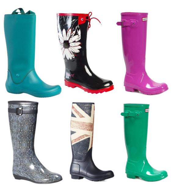 modele de cizme de ploaie cu print floral