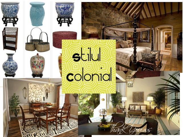 stilul colonial in mobila si decoratiuni in zilele noastre
