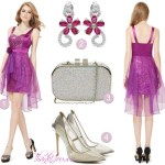 Rochii de seara violet- Tinute formale complete