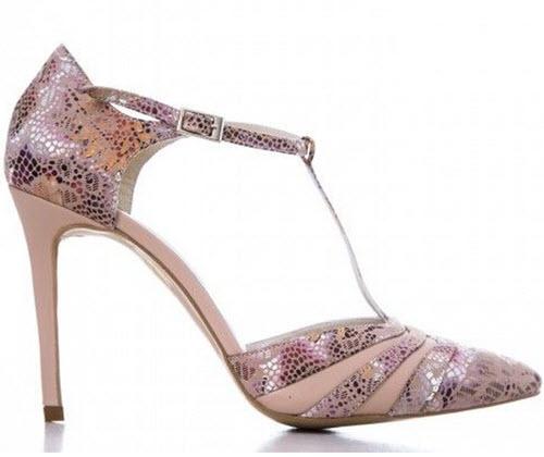 Pantofi De Dama CONDUR by alexandru Cu imprimeu auriu , toc de 9 cm