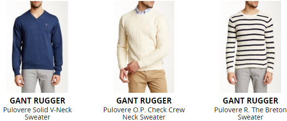 colectia de pulovere barbati Gant Rugger 2016
