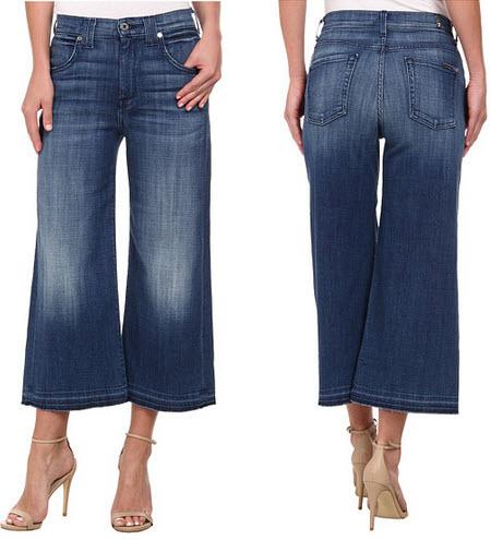 fuat pantaloni din blugi 7 For All Mankind Culotte
