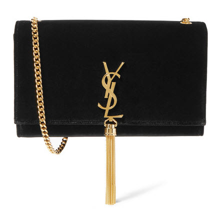 SAINT LAURENT Monogramme Kate velvet shoulder bag