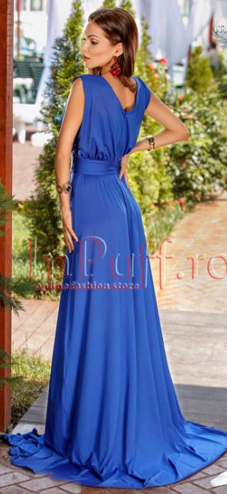 rochii albastre de seara lungi