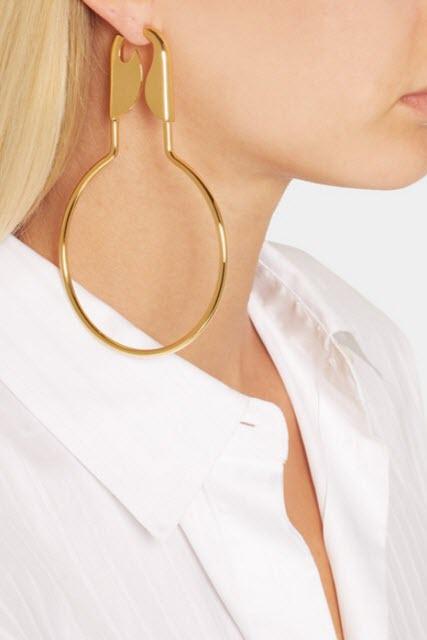 BALENCIAGA Gold-plated earrings