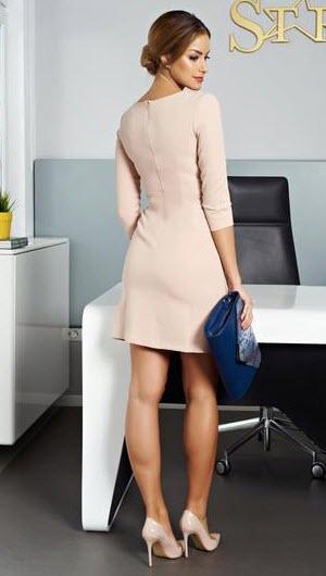 rochie roz prafuit din tricot elastic