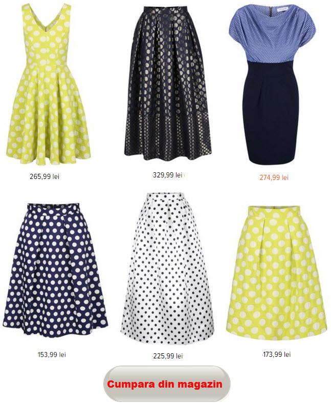 combinatii de culori la haine cu buline