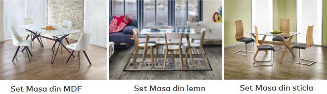 seturi mese si scaune pentru bucatarie
