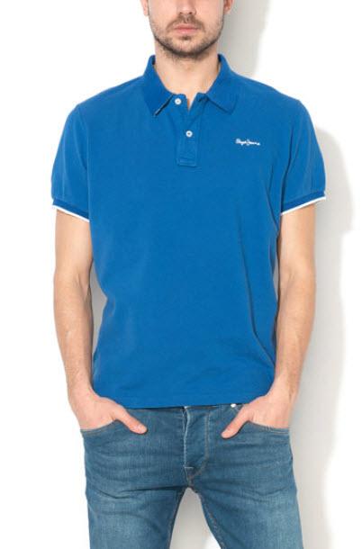 Pepe Jeans London Tricou polo albastru Lemon