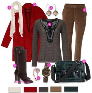 outfit casual de iarna cu palton si cizme lungi
