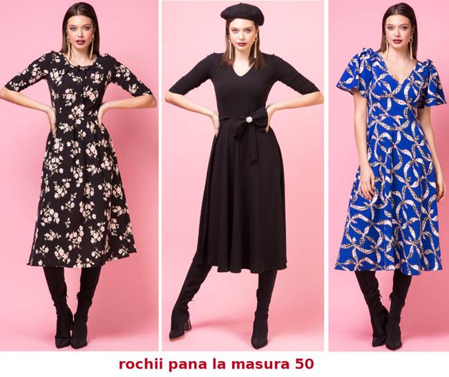 rochii marimi mari pana la masura 50 modele casual