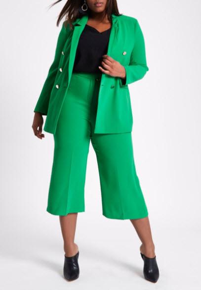 costum femei xxl format din sacou si pantaloni