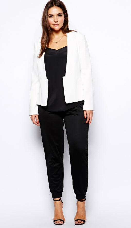 cum puteti sa asortati un sacou alb la pantaloni negri