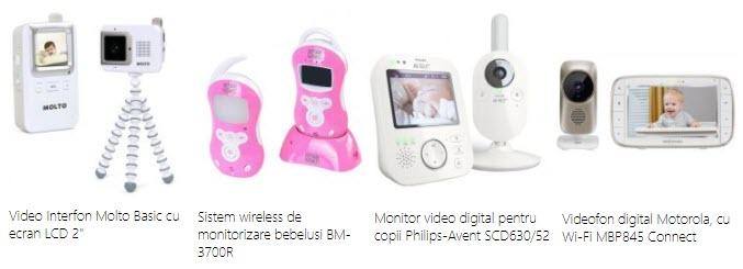 Monitorizarea bebelusilor audio si video