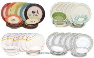 Farfurii Ieftine la Bucata si Seturi Modele Patrate din Portelan Ceramica Arcopal