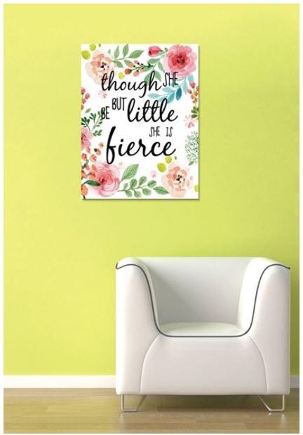 tablou cu flori si text motivational