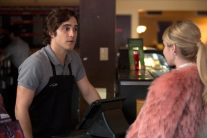 "SCREAM QUEENS: Pictured L-R: Diego Boneta as Pete and Emma Roberts as Chanel Oberlin in ""Pilot,"" the first part of the special, two-hour series premiere of SCREAM QUEENS airing Tuesday, Sept. 22 (8:00-10:00 PM ET/PT) on FOX. ©2015 Fox Broadcasting Co. Cr: Steve Dietl/FOX."