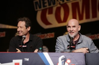 THE X-FILES: Cast Member David Duchovny and Cast Member Mitch Pileggi during FOX FANFARE 2015 at New York Comic Con on Saturday, Oct. 10 at Javits Center in New York, NY. CR: Ben Hider/FOX