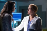 THE X-FILES: L-R: Guest star Annet Mahendru and Gillian Anderson. The next mind-bending chapter of THE X-FILES debuts with a special two-night event beginning Sunday, Jan. 24 (10:00-11:00 PM ET/7:00-8:00 PM PT), following the NFC CHAMPIONSHIP GAME, and continuing with its time period premiere on Monday, Jan. 25 (8:00-9:00 PM ET/PT). The thrilling, six-episode event series, helmed by creator/executive producer Chris Carter and starring David Duchovny and Gillian Anderson as FBI Agents FOX MULDER and DANA SCULLY, marks the momentous return of the Emmy Award- and Golden Globe-winning pop culture phenomenon, which remains one of the longest-running sci-fi series in network television history. ©2015 Fox Broadcasting Co. Cr: Ed Araquel/FOX