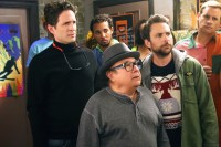 "IT'S ALWAYS SUNNY IN PHILADELPHIA -- ""The Gang Hits The Slopes"" -- Episode 1103 (Airs Wednesday, January 20, 10:00 pm e/p) Pictured: (l-r) Glenn Howerton as Dennis, Danny DeVito as Frank, Charlie Day as Charlie. CR: Patrick McElhenney/FX"
